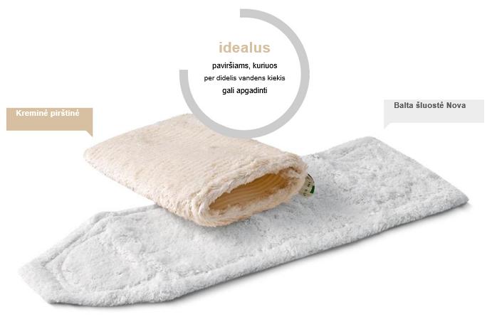 baldu valymas; sluota grindims plauti; valymo priemones